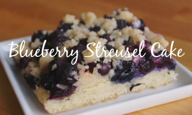 Blueberry Streusel Cake and Oma