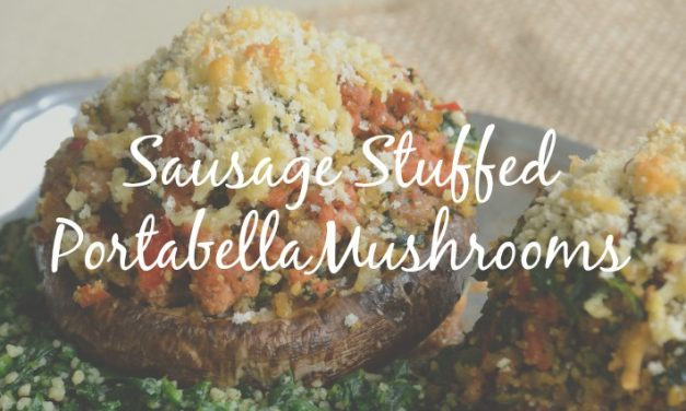 Portabella Stuffed Mushrooms [Hearty and Full of Flavor]