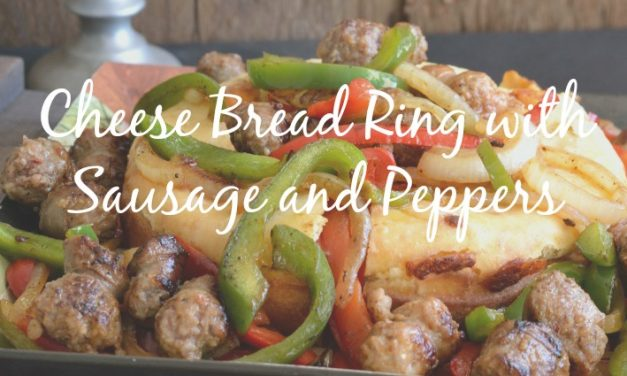 Cheese Bread Ring with Sausage and Peppers