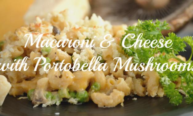 Macaroni and Cheese with Portobella Mushrooms