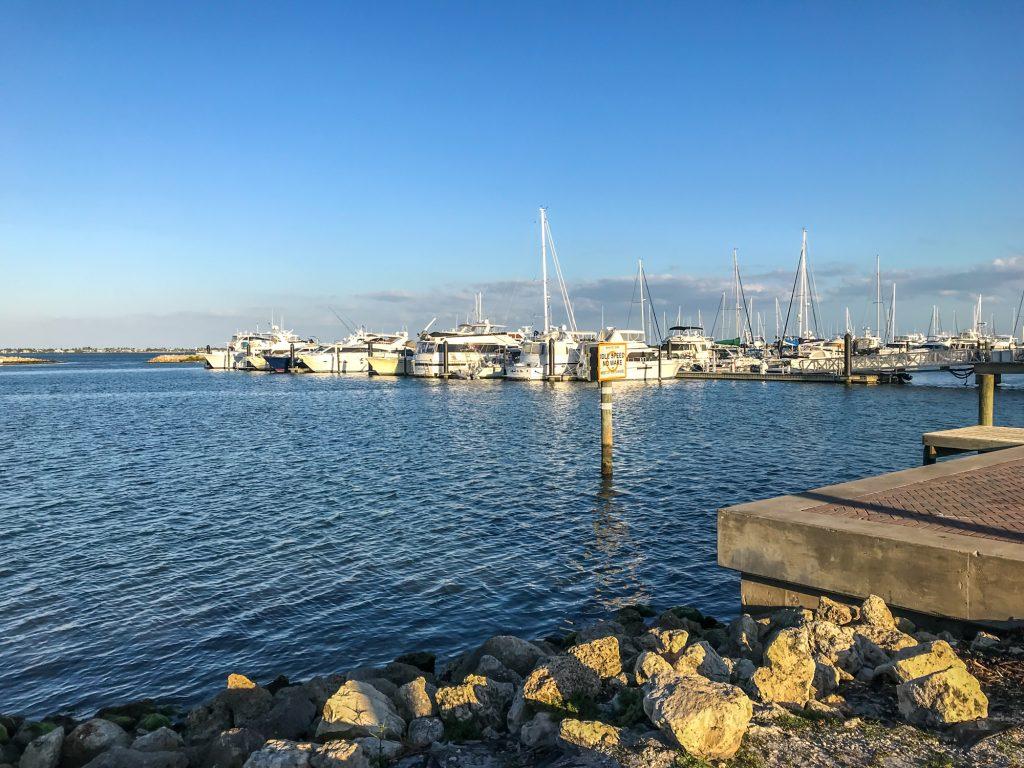 Historic downtown Fort Pierce marina view