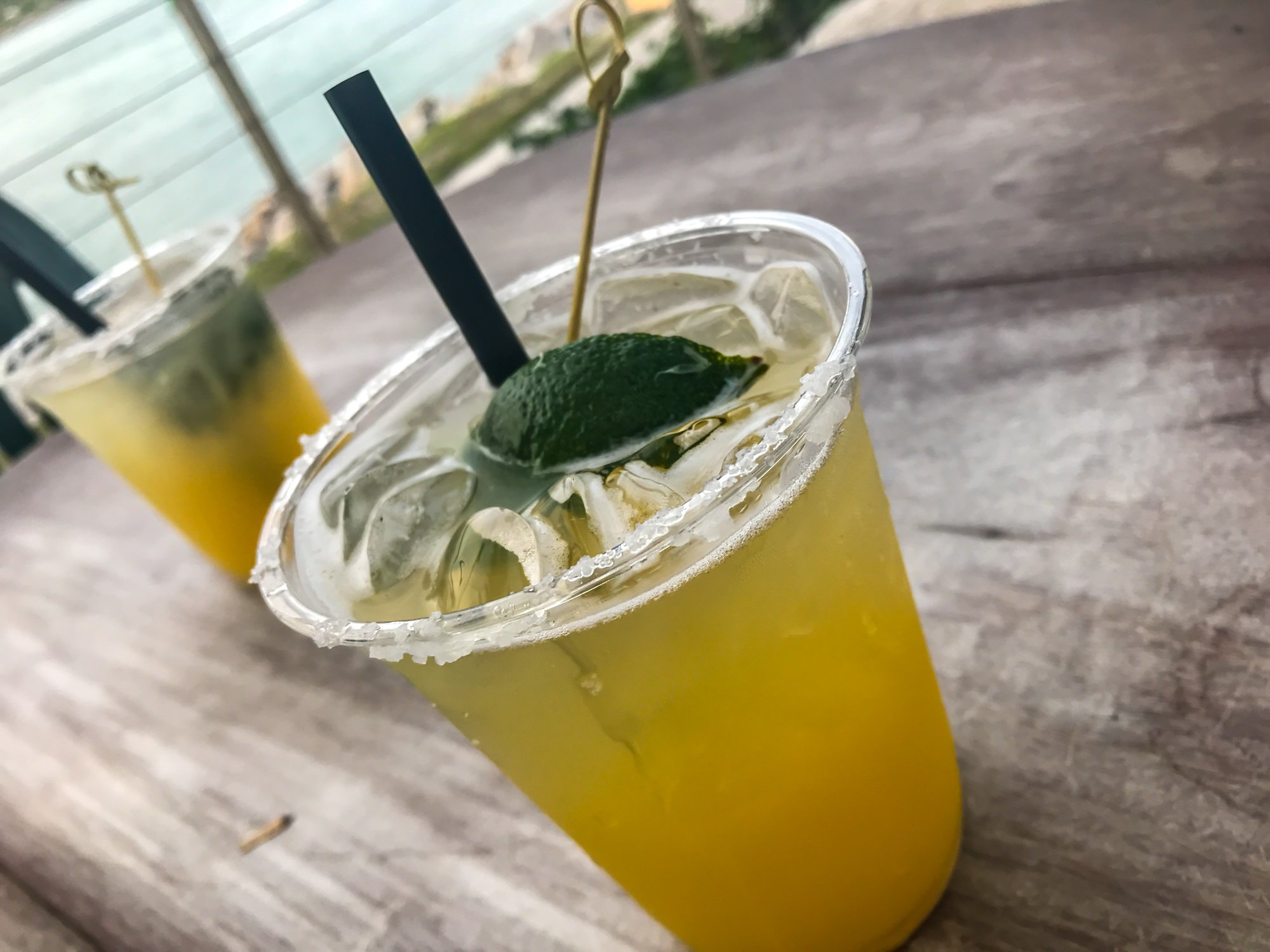 delicious margaritas from Square Group Tiki Bar in Fort Pierce Florida, where to eat in South Beach, Fort Pierce FL