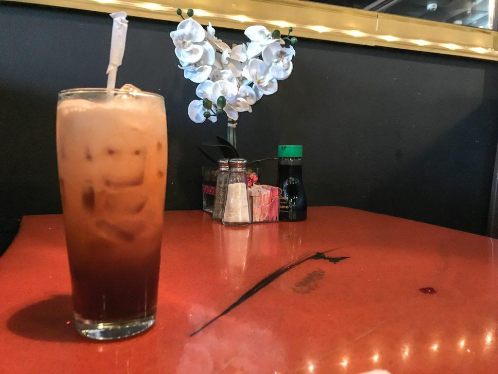 thai iced tea at wasabi thai sushi fort pierce fl